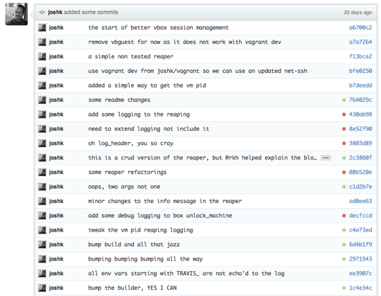 pull request with commits from Josh