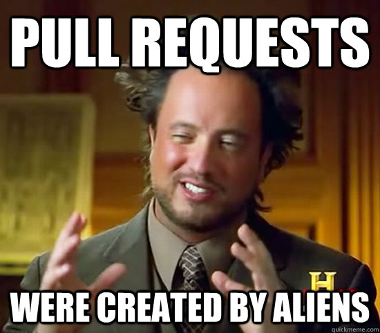 Pull requests were created by aliens